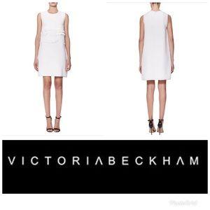 NWT Victoria Beckham Soft Crepe White Dress 10